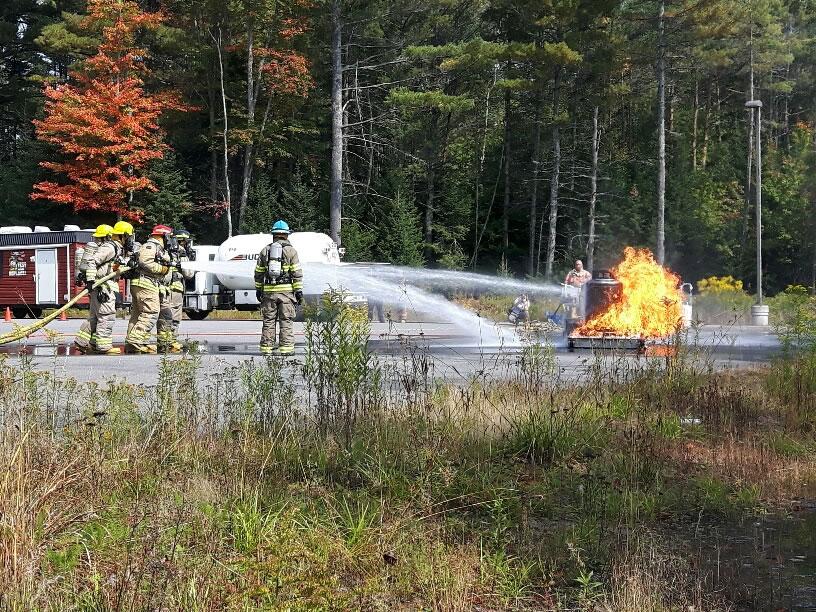 Emergency training in propane fires