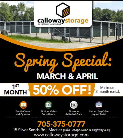 Calloway Storage Spring Special
