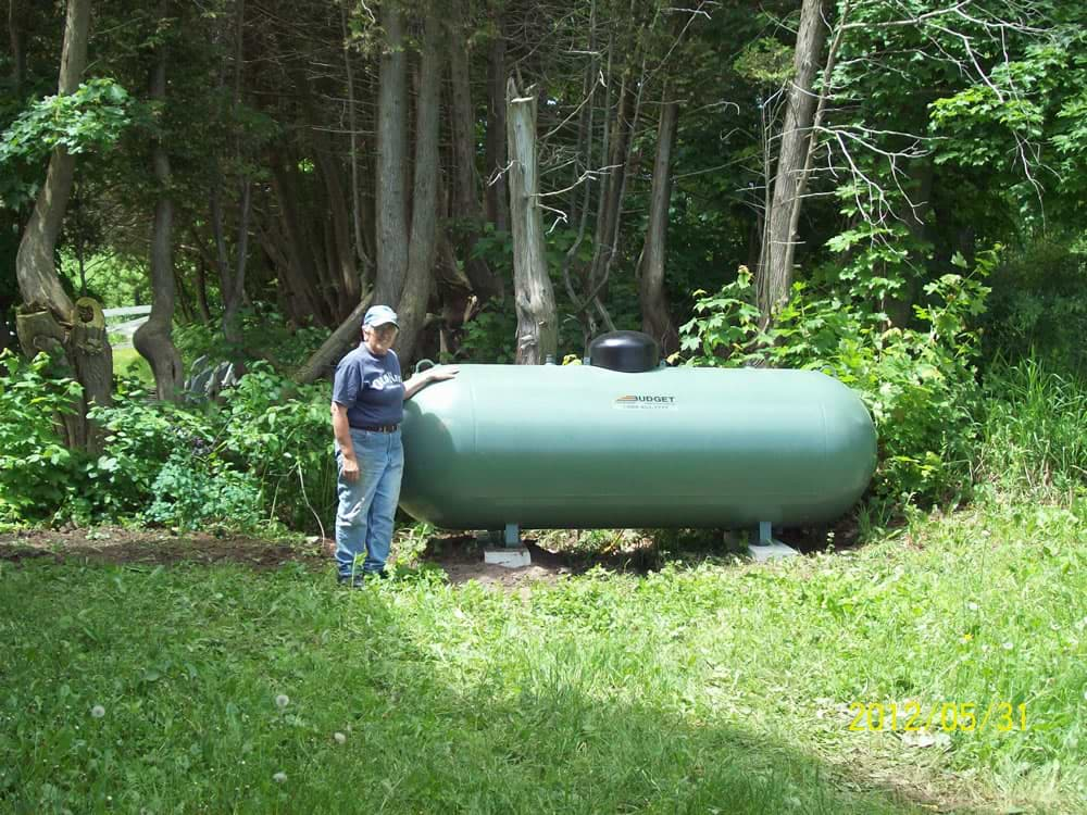 New Green Propane Tank