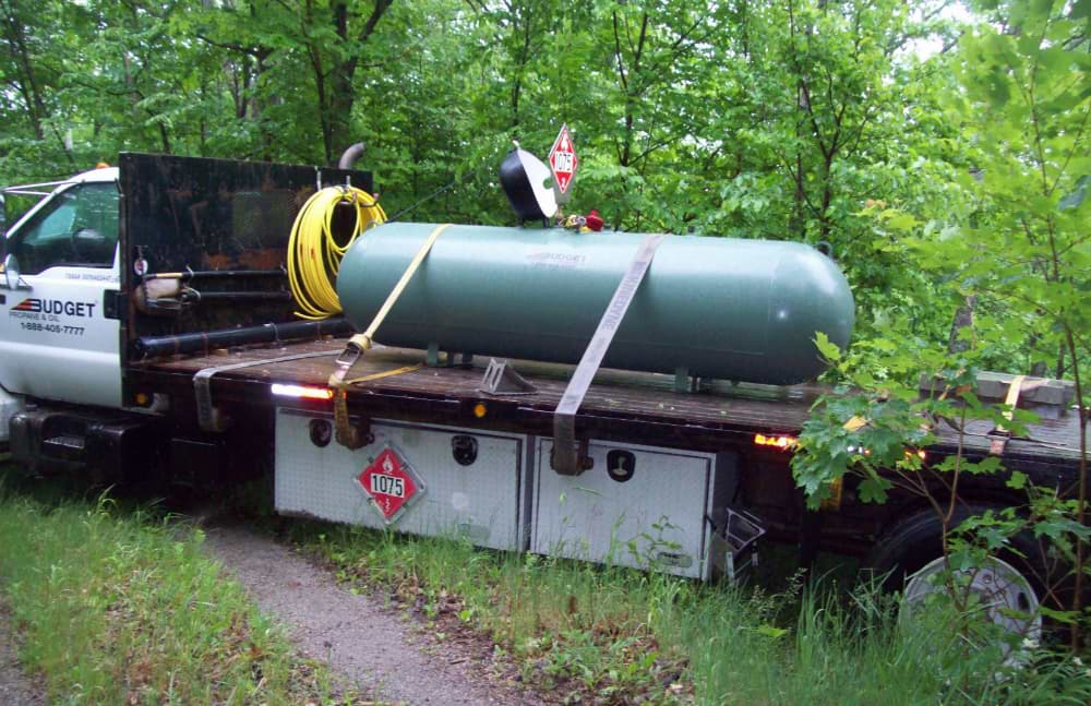 Green Tank Our for Delivery