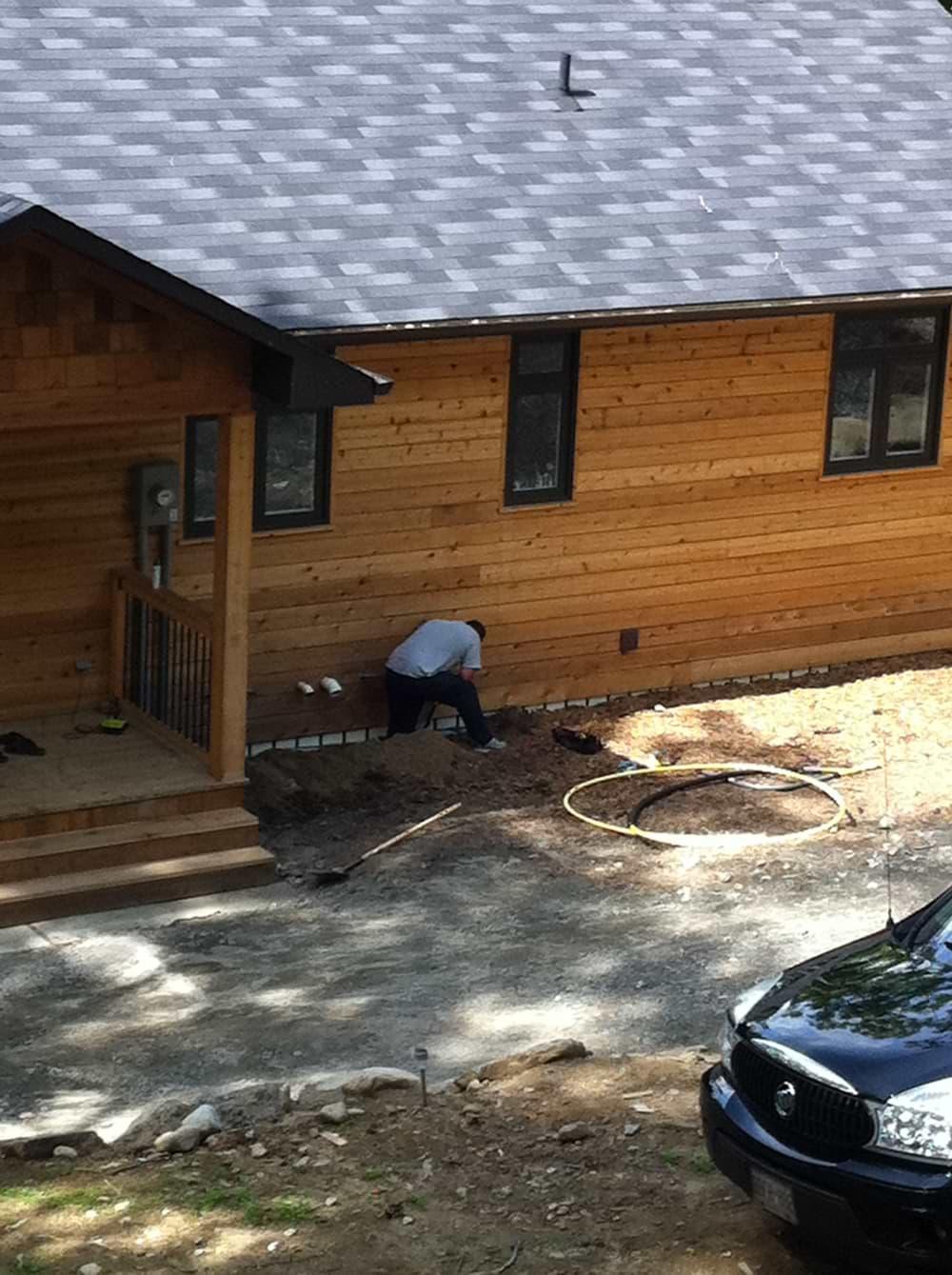 Log House Install
