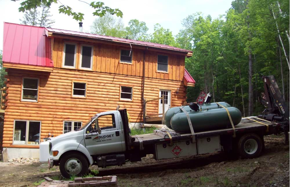 Log Home Tank Delivery