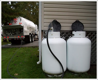 Upright Propane Tank White
