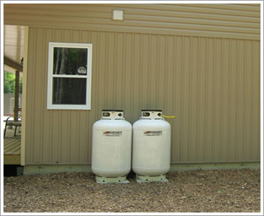Upright Propane Tank